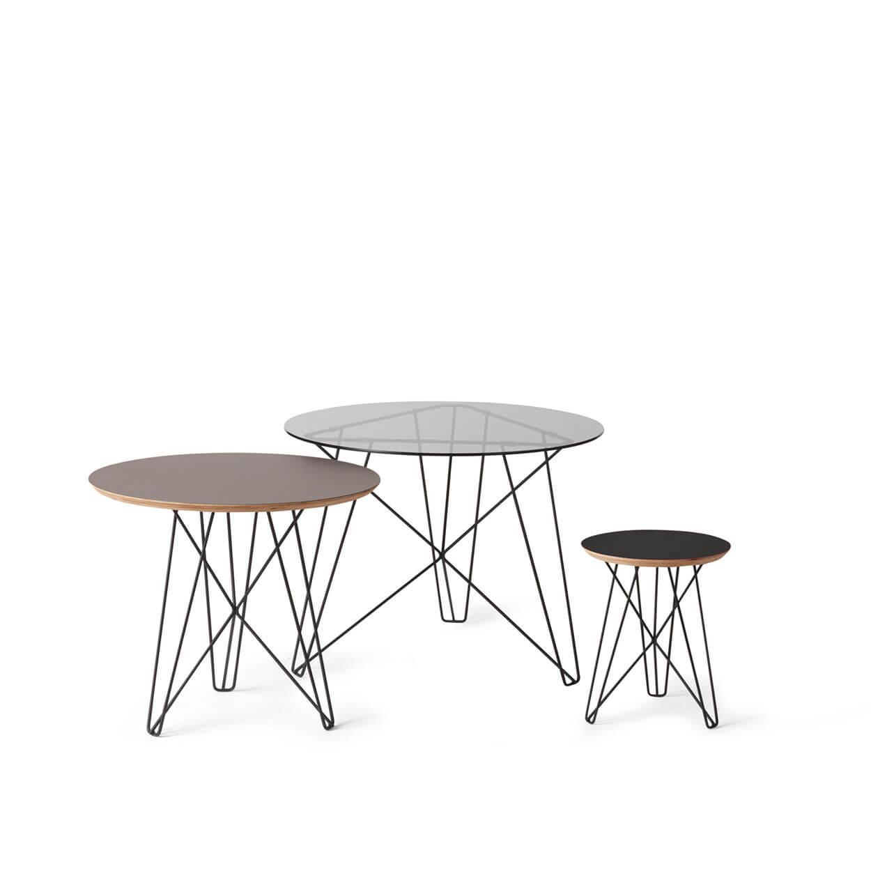 3 Vintage Bijzettafeltjes.Ijhorst Side Tables Spectrum Design