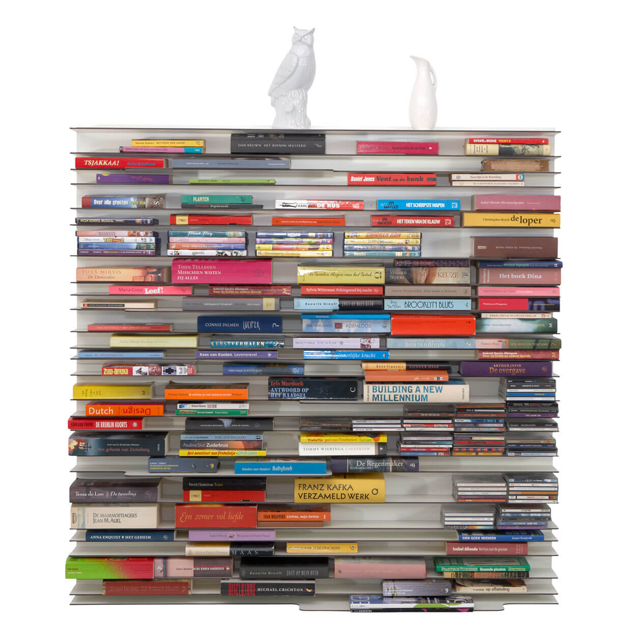 Smal Wit Boekenkastje.Paperback Boekenkast Spectrum Design